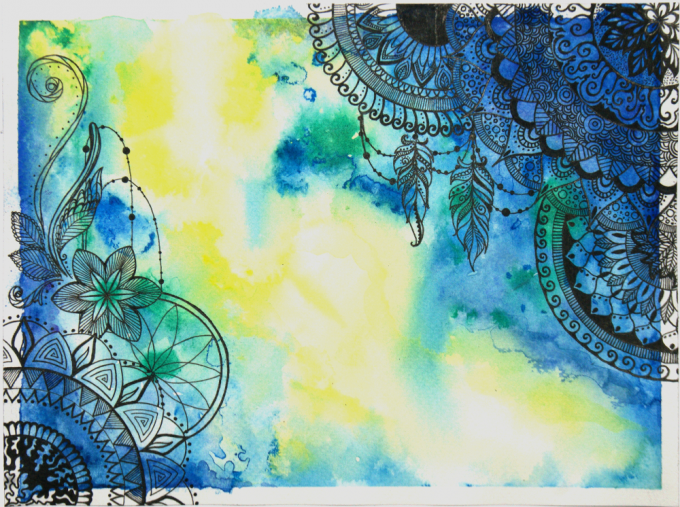 watercolor mandalas SMALL