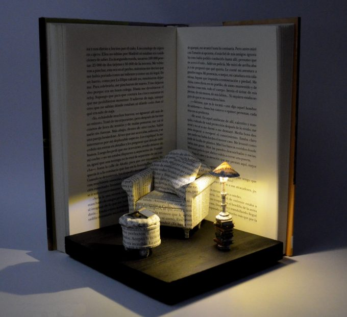 Great comfort,I Upcycle Old Books By Turning Them Into Magical Sculptures