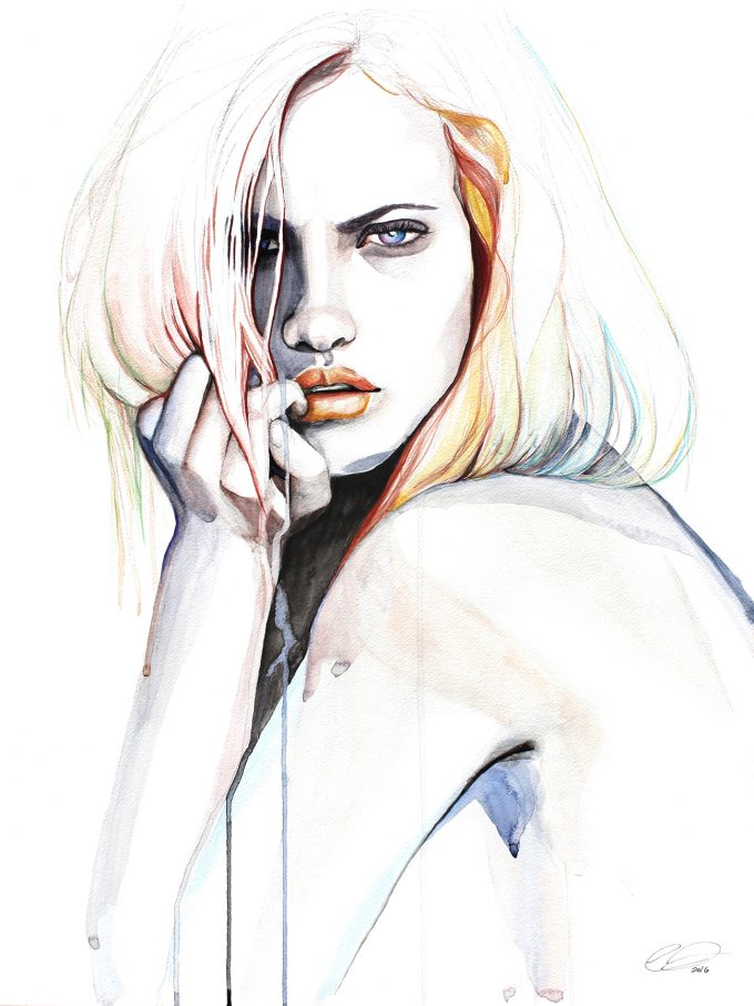 Watercolor Portraits by DEFECTIVEBARBIE .#artpeople