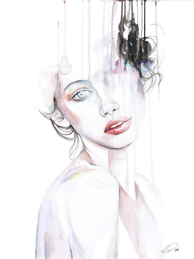 defectivebarbie,Watercolor Portraits by DEFECTIVEBARBIE .#artpeople