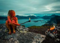 4 elements : water, wind, earth & fire I painted on dancer Linnéa Sundling in north of Sweden & Lofoten. These bodypainting are for Amerika Band music video which is coming out in spring of 2017.