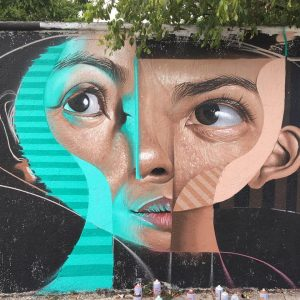 Cubism in street art by the Spanish artist BELIN