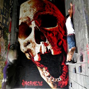 Insane51 Greek mural artist and painter