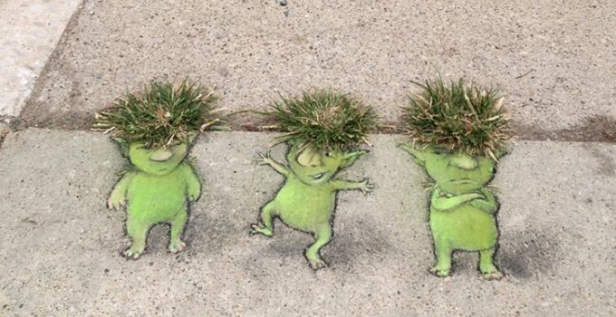 Original Street Art by David Zinn