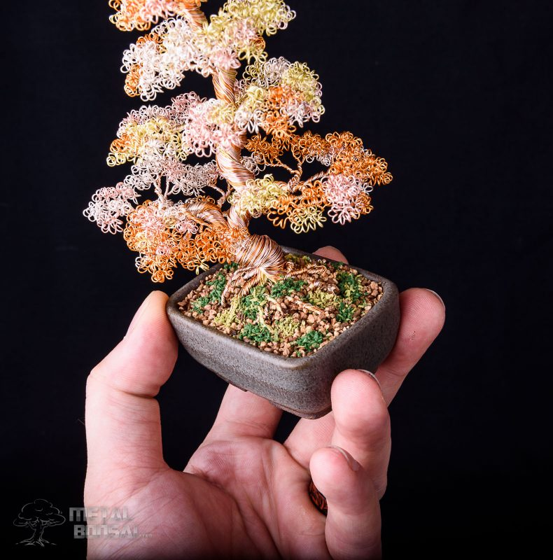 Wire Tree Sculpture by MetalBonsai.com