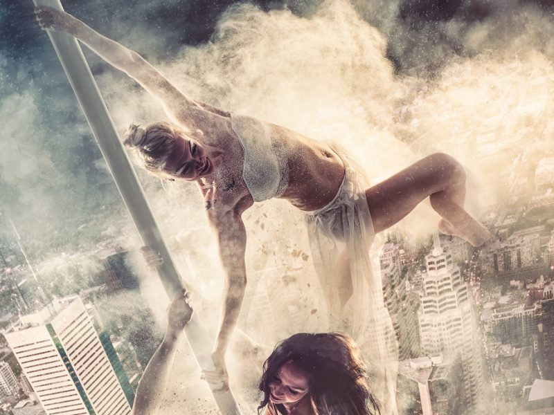 Juhamatti Vahdersalo Created Poster Of Pole-Dancers