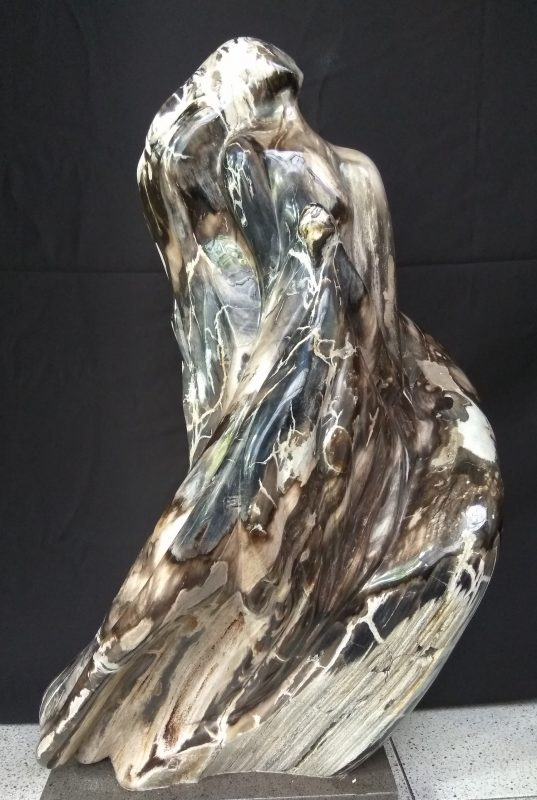 Petrified wood sculptures