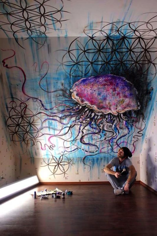Artjom Kesvatera is a artist from Estonia, who likes to make wall murals, wood sculptures and paintings.