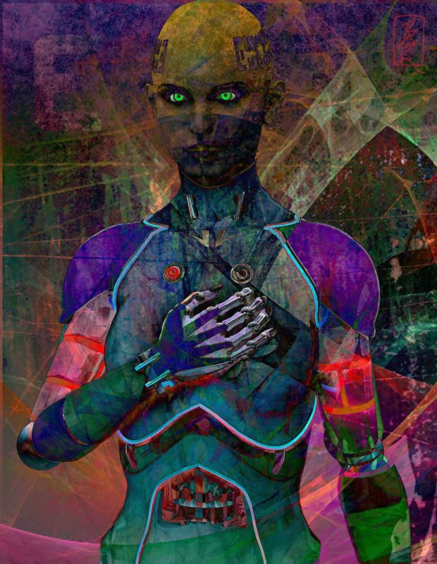 Digital Mixed Media Works by Barry J Brady