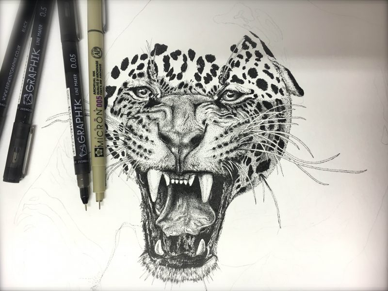 Personalised Pen Ink Art by Lilo van Wyk
