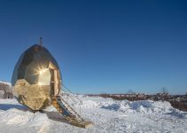 Solar Egg Sits In The Landscape Of Sweden