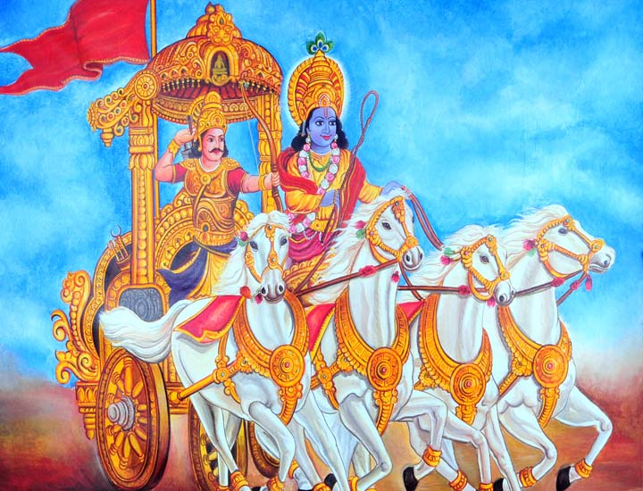 World Biggest Painting of Lord Krishna