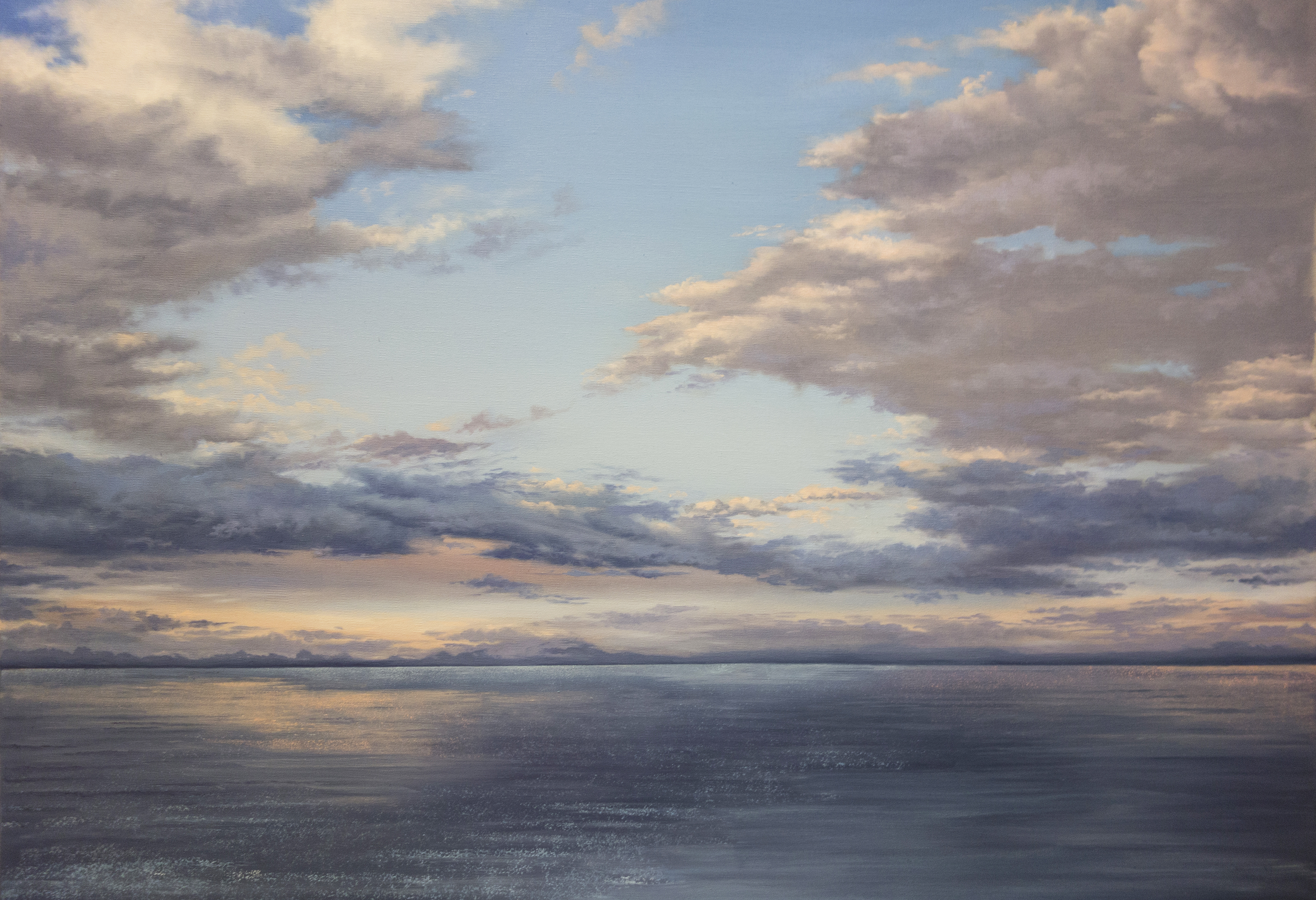 silence over the ocean oil painting art people gallery