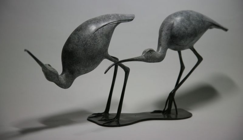 Bronze Animal Sculptures At Jonathan Knight Sculpture In West Sussex, UK