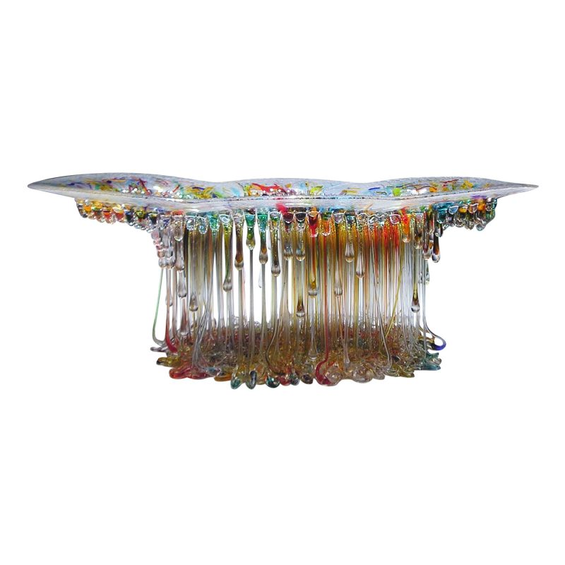 Italian artisan Daniela Forti uses a unique process to create stunningly Jellyfish Glass Tables