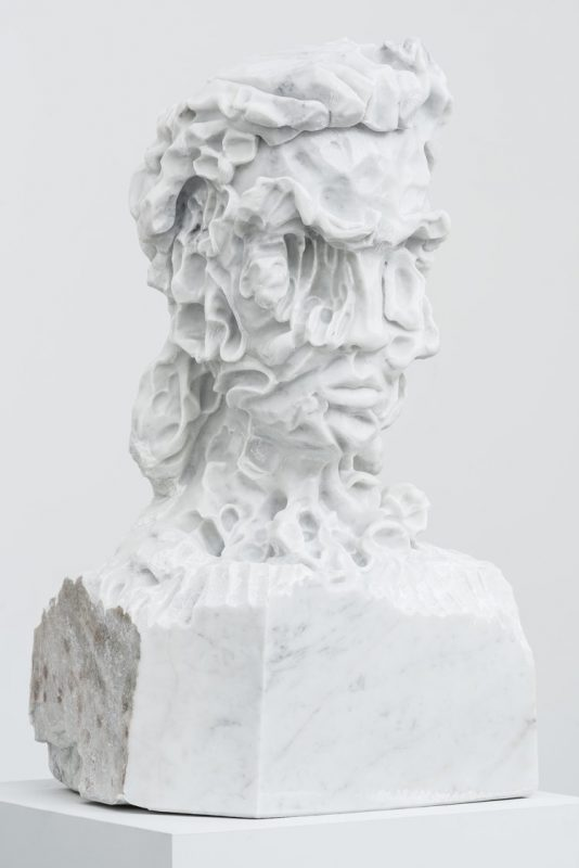 Carved marble sculpture by Kevin Francis Gray