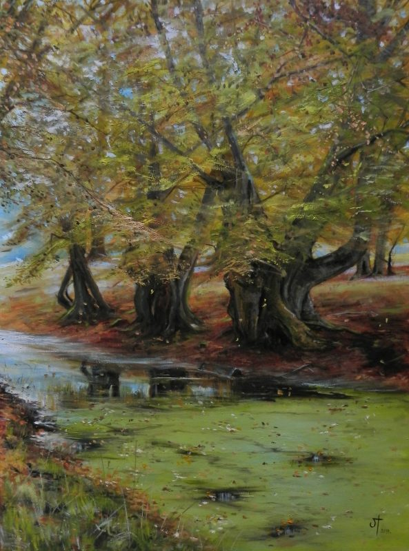 Oil painting landscape by Lenka Krstic