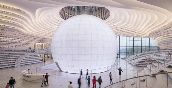 Incredible Library in TIANJIN BINHAI China