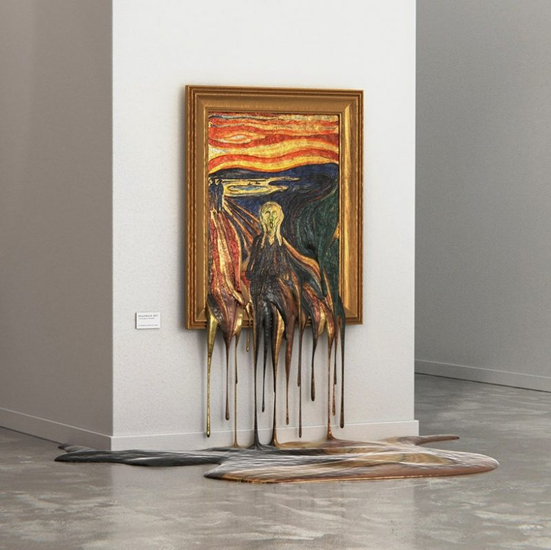art masterpieces melting | ALPER DOSTAL
