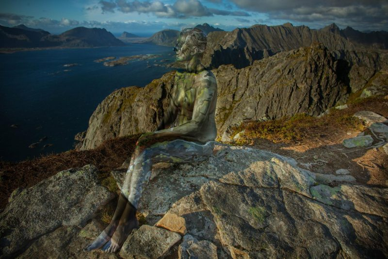 astonishing bodypainting in the end of the world – Lofoten islands. Vilija is young, multi-talented artist from Lithuania/Sweden that does bodypainting, film-directing, performance art, photography which is about nature and human relationship. She is a professional artist that travels to most inspiring nature places in a world and creates art, performance, and films. In 2016 Vilija fall in love with Norway- Lofoten nature where she created series with bodypainting and North lights in winter. This 2017 summer she created series of human bodies melting in Lofoten landscapes – camouflage body painting. Its extreme project because of Lofoten dramatic weather conditions, changing harsh weather. She has to find brave models and crew to make such a projects happen and paint very fast and focused before model and artist start to freeze. Vilija's passion, love for nature and art creates amazing result´s that are inspiring and makes us fall in love with nature even more and care about it.