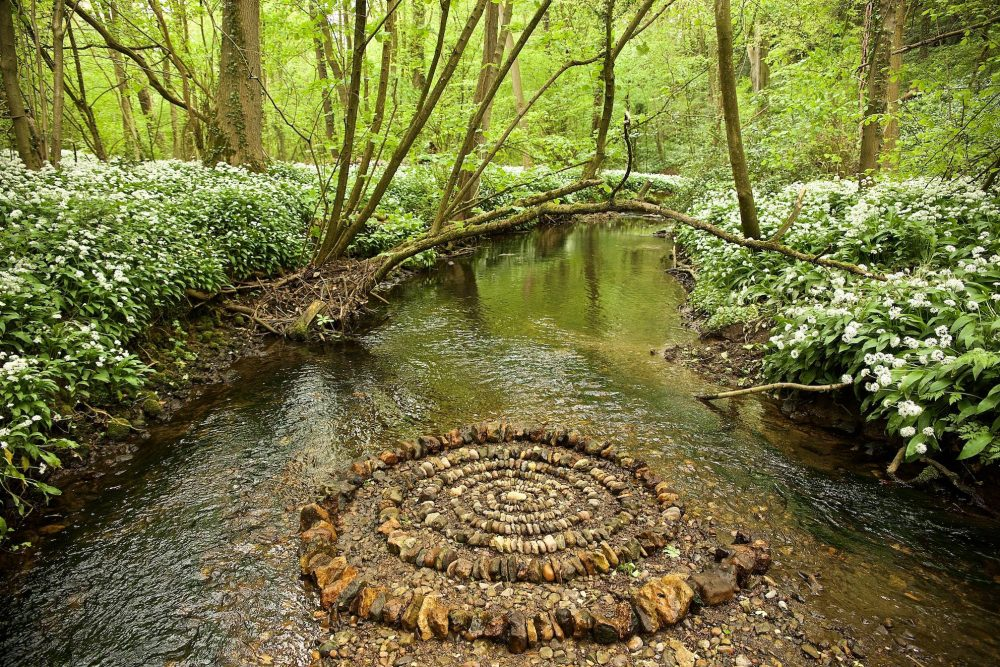 Land Artist James Brunt use the earth as a canvas.