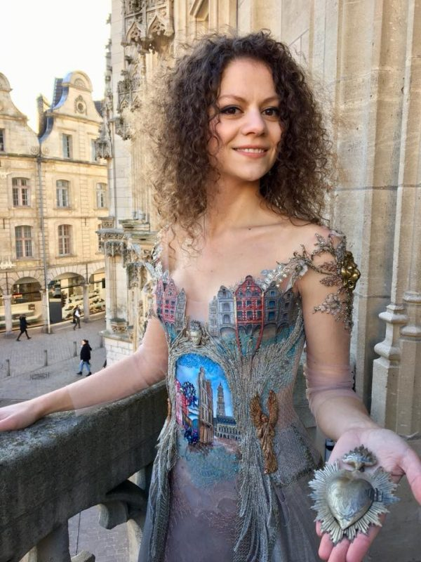 Artist Creates Exquisite Dress Inspired by a French Town