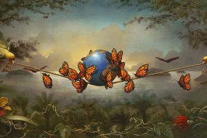 fantastic visual stories in paintings by Kevin Sloan.