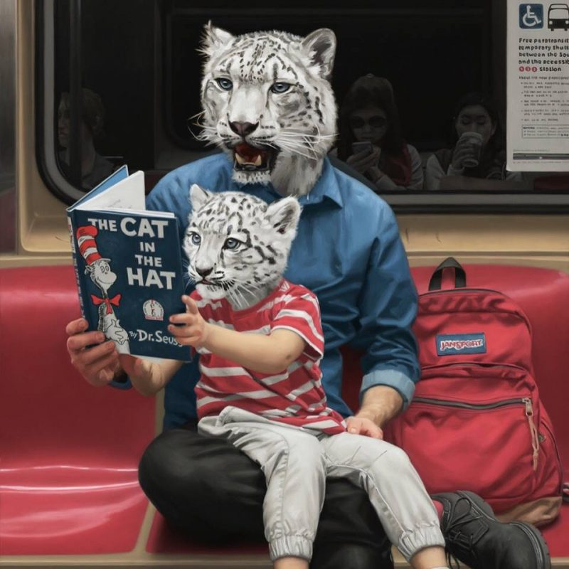 Paintings by Matthew Grabelsky Take the New York City Subway for a Wild Ride