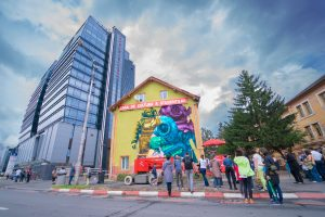 Sibiu city, a splash of colour on Romania's map. The Street Art Tour has reached 5.700 square meters of colour, by the end of SISAF 2018