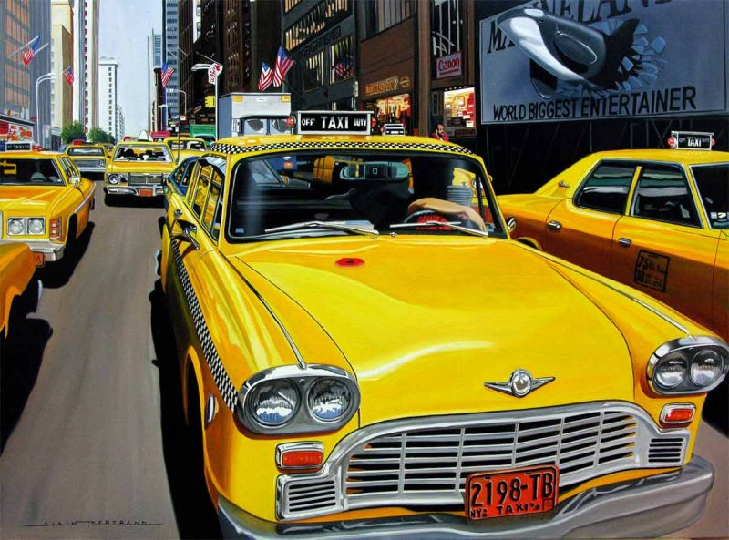 Alain Bertrand delivers in his paintings his vision of the American dream