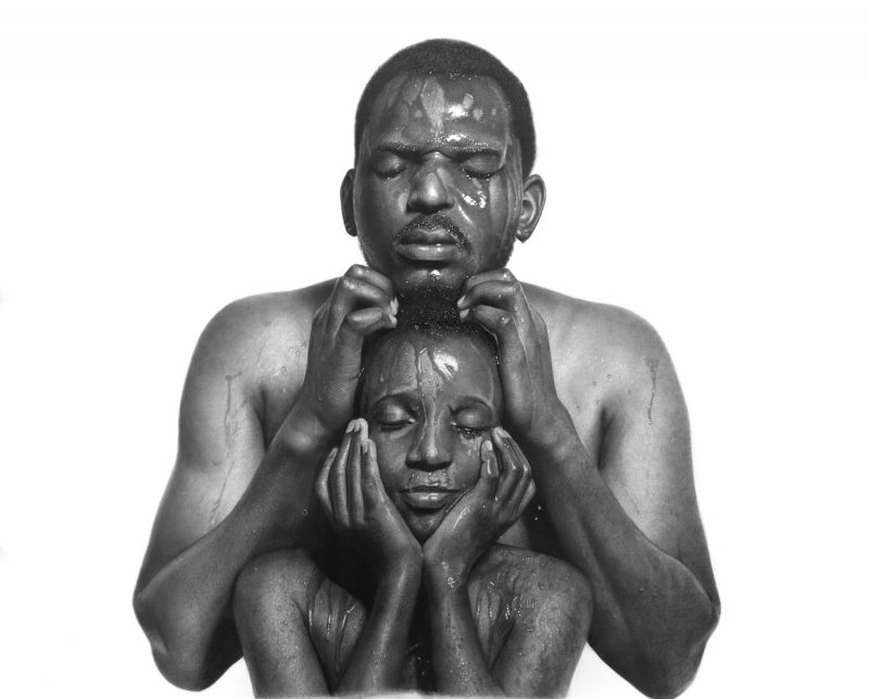 Hyperrealistic Portraits Rendered in Charcoal by Nigerian artist Arinze Stanley.