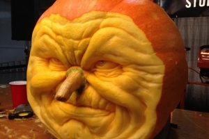 Incredible pumpkins sculpted by Villafane Studio.
