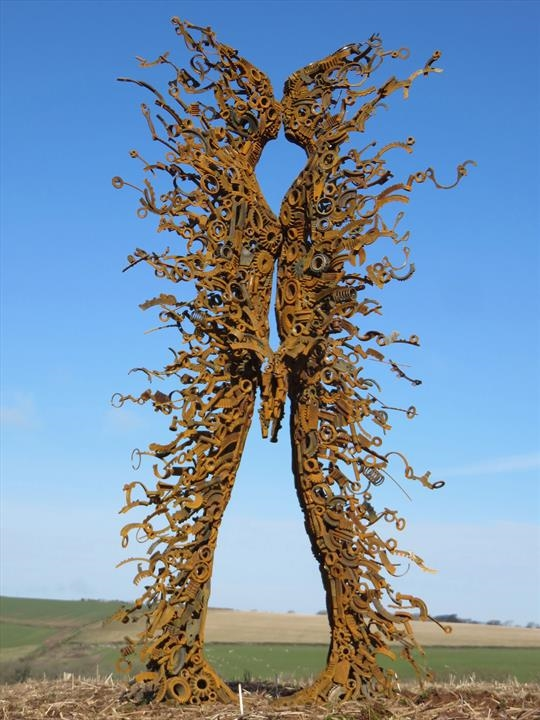 Sculptor Penny Hardy combines discarded metal