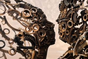 Sculptor Penny Hardy combines discarded metal items to create Incredible sculpture.