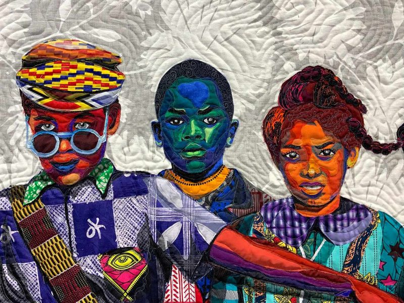 Artist Bisa Butler use vibrant patterned fabrics to create portraits of everyday people.