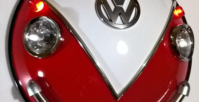 wall sculpture inspired in the classic Volkswagen Beetle. Handcrafted in acrylic and steel by Renzo Gamonet