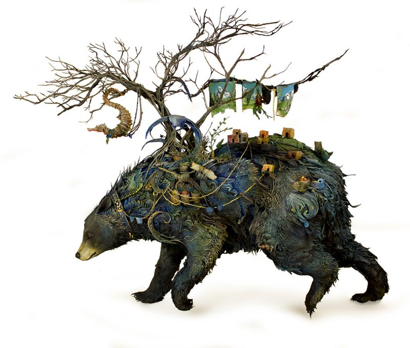 Artist Ellen Jewett creates wildly intricate sculptures of animals and Plant Life Form