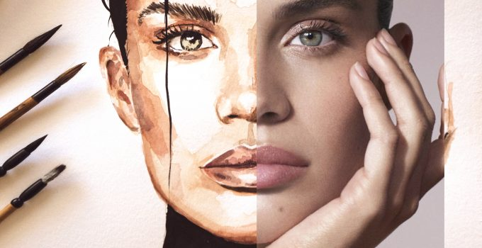 Gus Romano Watercolor Sara Sampaio Portrait