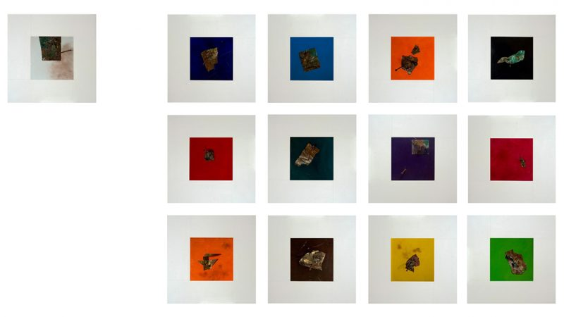 Artwork composed of 13 paintings (12 1)