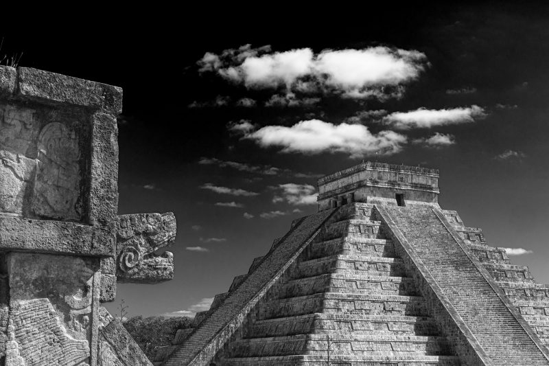Castle of Kukulcan in Chichen Itza, Mexico