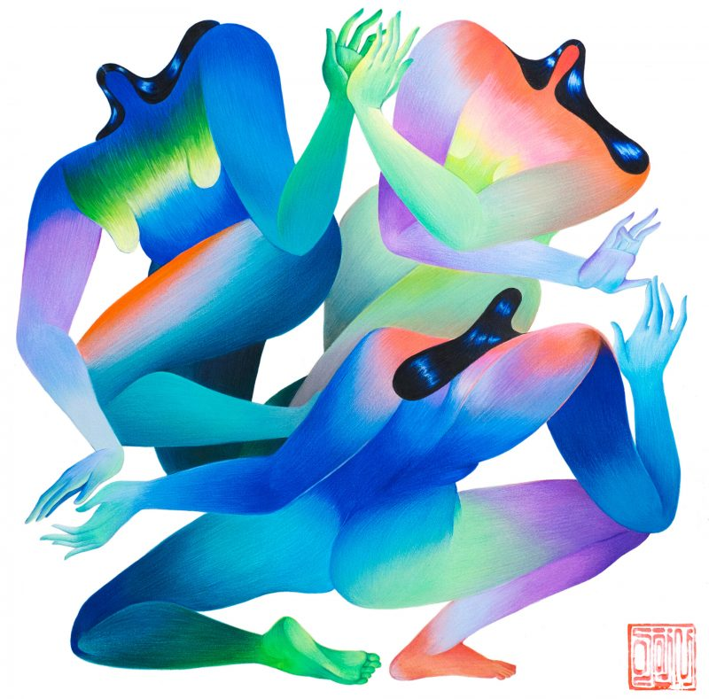 The posed women Figures by Artist Hanna Lee Joshi Explore the Female Body