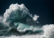 Captures the roiling majesty of ocean waves by Luke Shadbolt