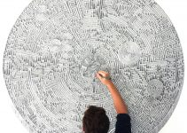 Infinite Architectural Working in pen and ink by Benjamin Sack's Drawings