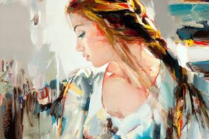 Painting with dripping rivulets of riveting colors and light by Josef Kote