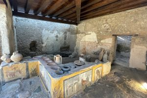 The ancient thermopolium that archaeologists unearthed in Pompeii late last year opens to the public