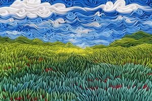 Russian artist Alisa Lariushkina uses air-dry clay to make Beautiful swirling sculptures that look like landscape paintings