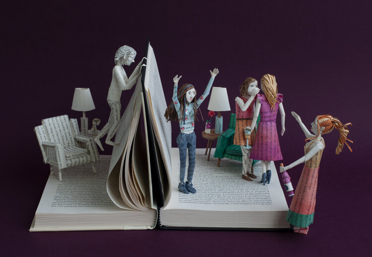 Beautiful design Books Sculptures by Bethany Bickley